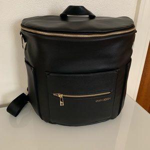 FAWN DESIGN BLACK DIAPER BAG & CHANGING CLUTCH